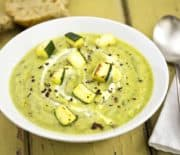 Roasted Garlic Zucchini Soup